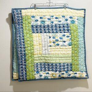 POTTERY BARN TEEN Patchwork Pick Stitch Euro Shams